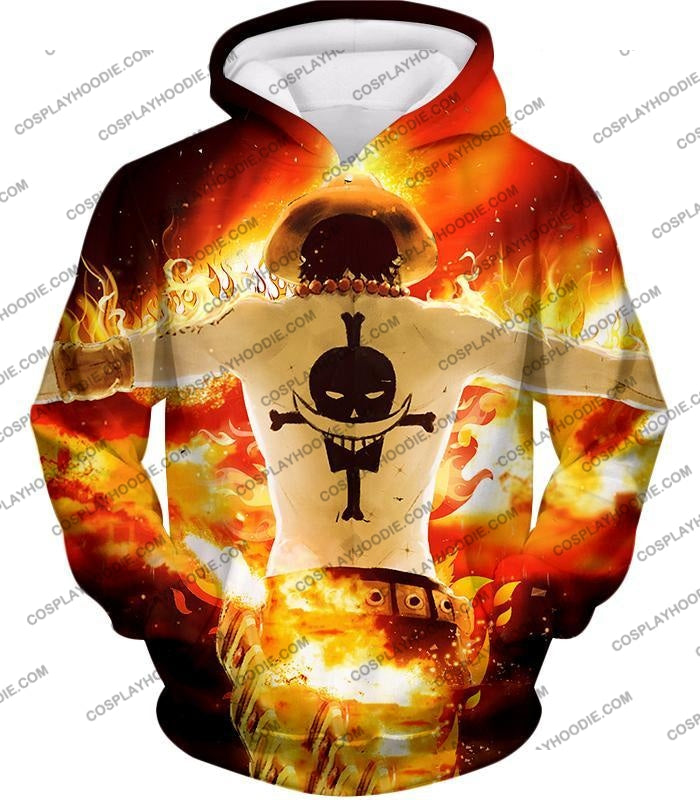 One Piece Whitebeard Pirates 2Nd Division Commander Portgas D Ace Cool Action T-Shirt Op074 Hoodie /