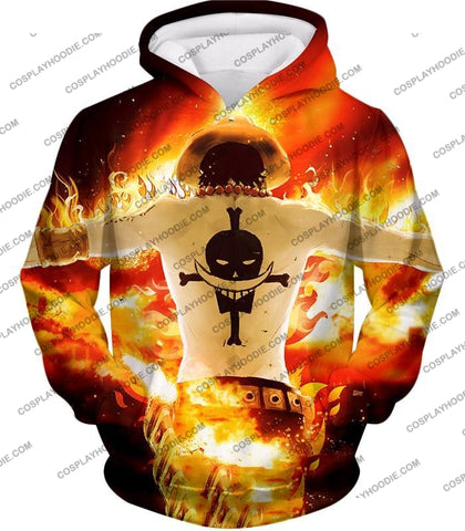 Image of One Piece Whitebeard Pirates 2Nd Division Commander Portgas D Ace Cool Action T-Shirt Op074 Hoodie /