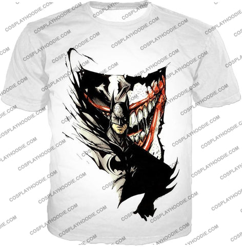 Image of Amazing Fan Art Batman X The Joker Cool White T-Shirt Bm074 / Us Xxs (Asian Xs)