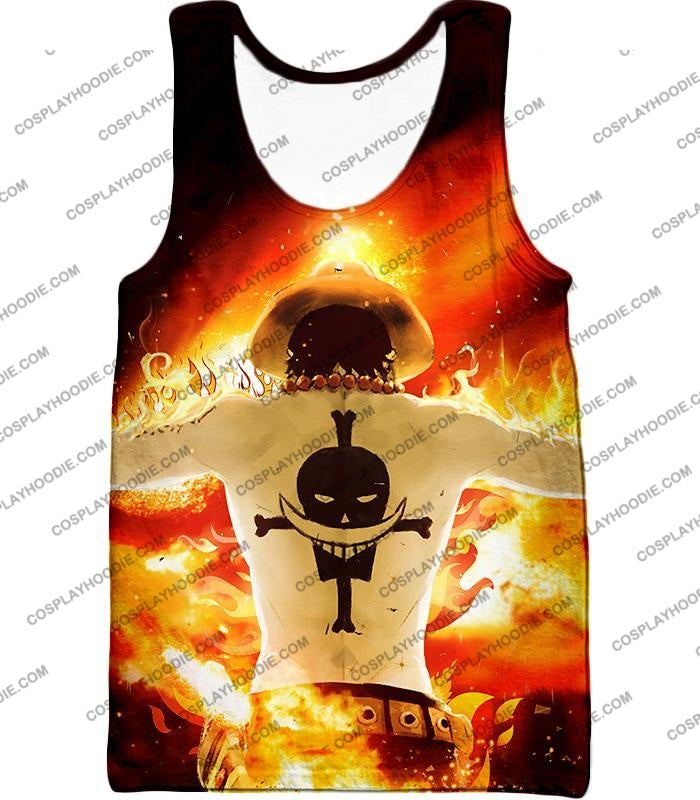One Piece Whitebeard Pirates 2Nd Division Commander Portgas D Ace Cool Action T-Shirt Op074 Tank Top