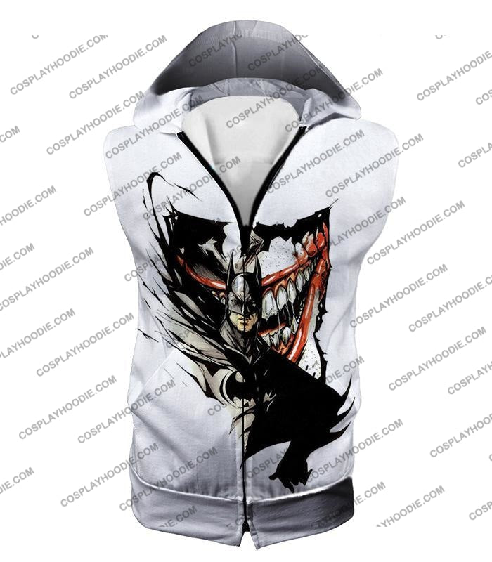 Amazing Fan Art Batman X The Joker Cool White T-Shirt Bm074 Hooded Tank Top / Us Xxs (Asian Xs)