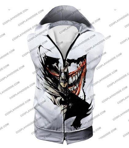Image of Amazing Fan Art Batman X The Joker Cool White T-Shirt Bm074 Hooded Tank Top / Us Xxs (Asian Xs)