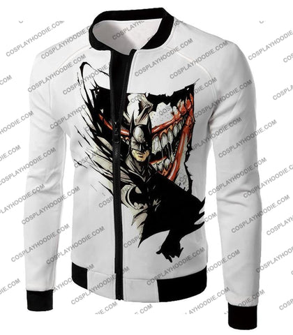 Image of Amazing Fan Art Batman X The Joker Cool White T-Shirt Bm074 Jacket / Us Xxs (Asian Xs)