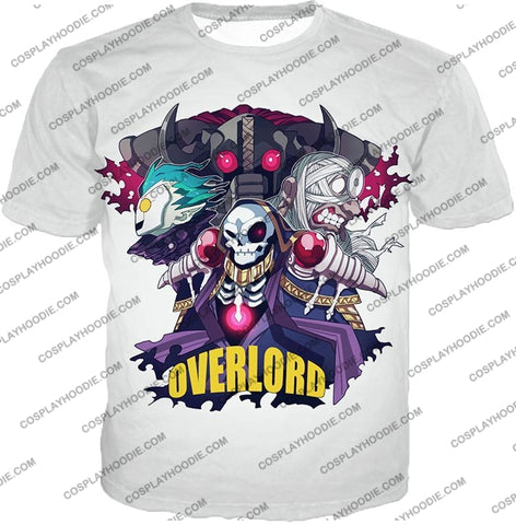 Image of Overlord Awesome Anime Ultimate Promo White T-Shirt Ol075 / Us Xxs (Asian Xs)
