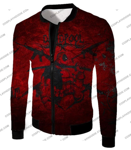 Image of Super Regenerating Marvel Hero Deadpool Promo Red T-Shirt Dp077 Jacket / Us Xxs (Asian Xs)