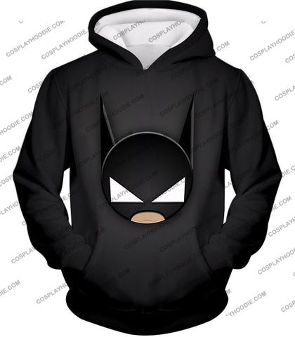 Image of Funny Batman Animated Mask Cool Black T-Shirt Bm078 Hoodie / Us Xxs (Asian Xs)