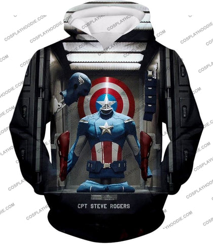 Image of Cpt. Steve Rogers As Captain America War Suit Cool T-Shirt Ca008 Hoodie / Us Xxs (Asian Xs)