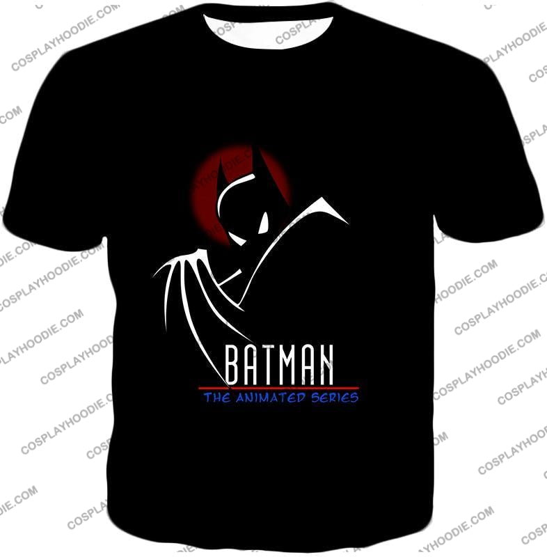 Dc Comics Superhero Batman The Animated Series Promo Black T-Shirt Bm008 / Us Xxs (Asian Xs)