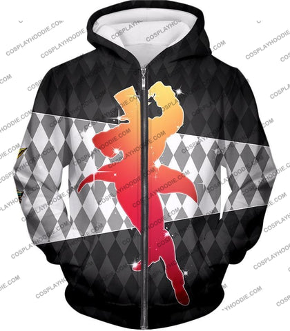 Image of Jojos All Star Battle C Will A Zeppeli Graphic T-Shirt Jo008 Zip Up Hoodie / Us Xxs (Asian Xs)