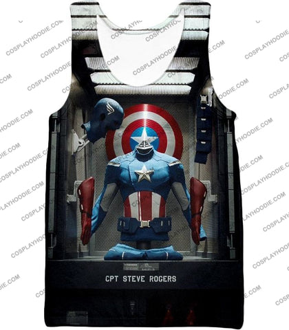 Image of Cpt. Steve Rogers As Captain America War Suit Cool T-Shirt Ca008 Tank Top / Us Xxs (Asian Xs)