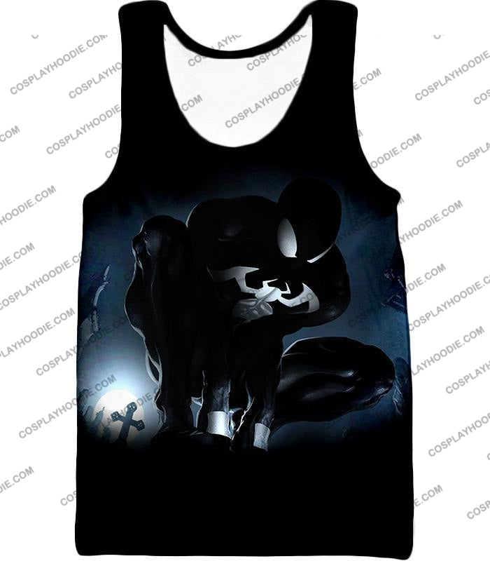 Animated Black Spiderman Cool Action T-Shirt Sp008 Tank Top / Us Xxs (Asian Xs)