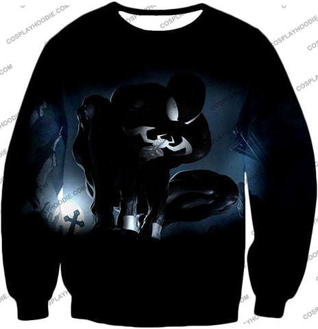 Image of Animated Black Spiderman Cool Action T-Shirt Sp008 Sweatshirt / Us Xxs (Asian Xs)