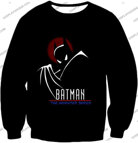 Image of Dc Comics Superhero Batman The Animated Series Promo Black T-Shirt Bm008
