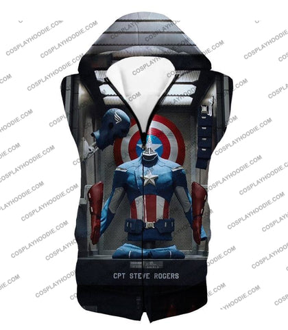 Image of Cpt. Steve Rogers As Captain America War Suit Cool T-Shirt Ca008 Hooded Tank Top / Us Xxs (Asian Xs)