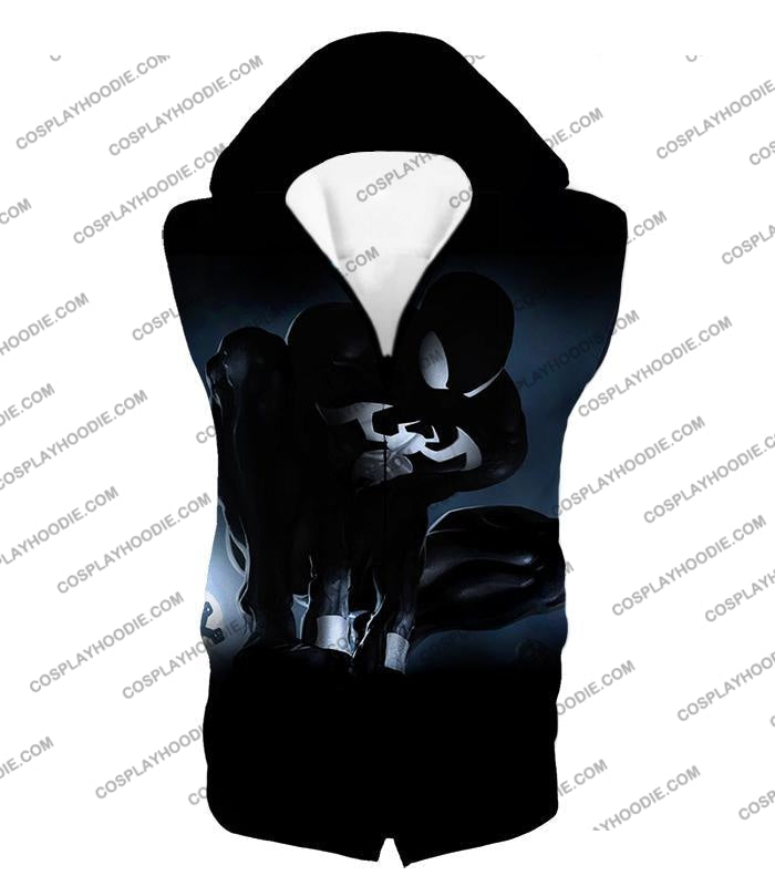 Animated Black Spiderman Cool Action T-Shirt Sp008 Hooded Tank Top / Us Xxs (Asian Xs)