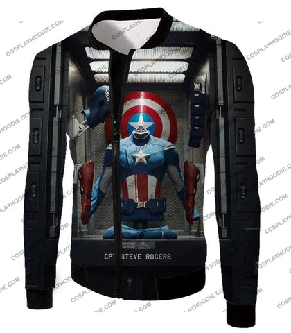 Image of Cpt. Steve Rogers As Captain America War Suit Cool T-Shirt Ca008 Jacket / Us Xxs (Asian Xs)