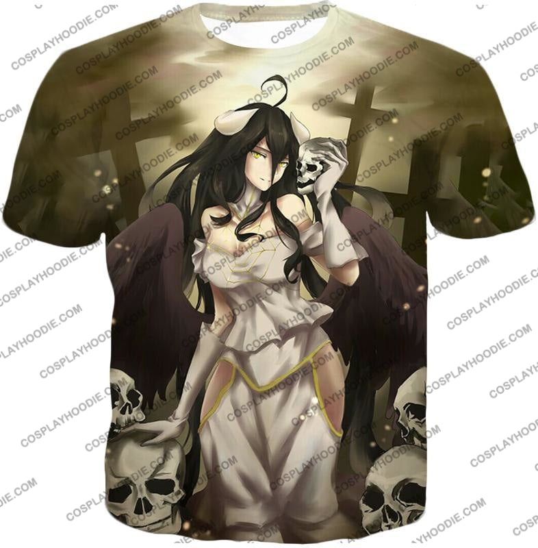 Overlord Beautiful Albedo Infatuated With Ainz Cool Promo Anime Graphic T-Shirt Ol080 / Us Xxs