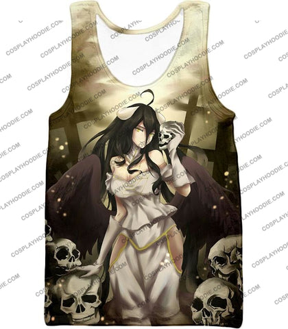 Image of Overlord Beautiful Albedo Infatuated With Ainz Cool Promo Anime Graphic T-Shirt Ol080 Tank Top / Us