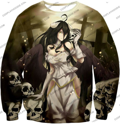 Image of Overlord Beautiful Albedo Infatuated With Ainz Cool Promo Anime Graphic T-Shirt Ol080 Sweatshirt /