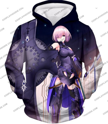 Image of Fate Stay Night Cool Grand Order Demi-Servant Mash Kyrielight T-Shirt Fsn081 Hoodie / Us Xxs (Asian