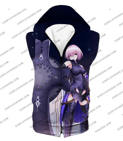 Image of Fate Stay Night Cool Grand Order Demi-Servant Mash Kyrielight T-Shirt Fsn081 Hooded Tank Top / Us