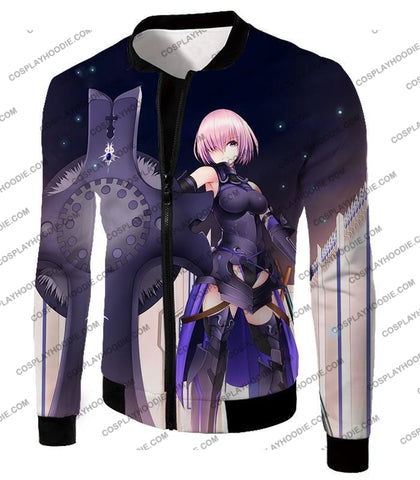 Image of Fate Stay Night Cool Grand Order Demi-Servant Mash Kyrielight T-Shirt Fsn081 Jacket / Us Xxs (Asian