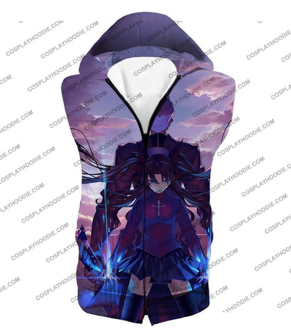Image of Fate Stay Night Rin Tohsaka And Archer Shirou Action T-Shirt Fsn083 Hooded Tank Top / Us Xxs (Asian