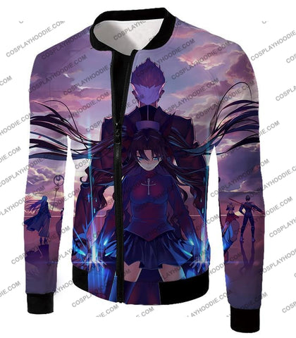 Image of Fate Stay Night Rin Tohsaka And Archer Shirou Action T-Shirt Fsn083 Jacket / Us Xxs (Asian Xs)