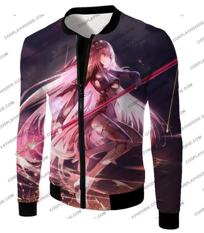 Image of Fate Stay Night Cool Grand Order Rider Schatach Action T-Shirt Fsn084 Jacket / Us Xxs (Asian Xs)