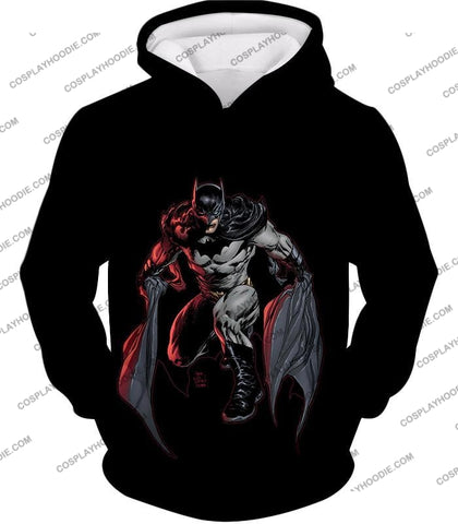 Image of Powerful Dc Hero Batman Ultimate Graphics Cool Black T-Shirt Bm087 Hoodie / Us Xxs (Asian Xs)