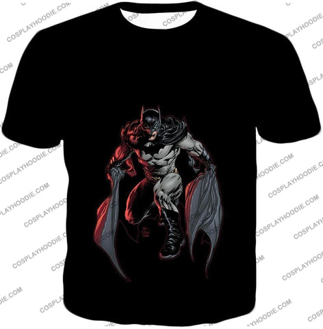 Image of Powerful Dc Hero Batman Ultimate Graphics Cool Black T-Shirt Bm087 / Us Xxs (Asian Xs)