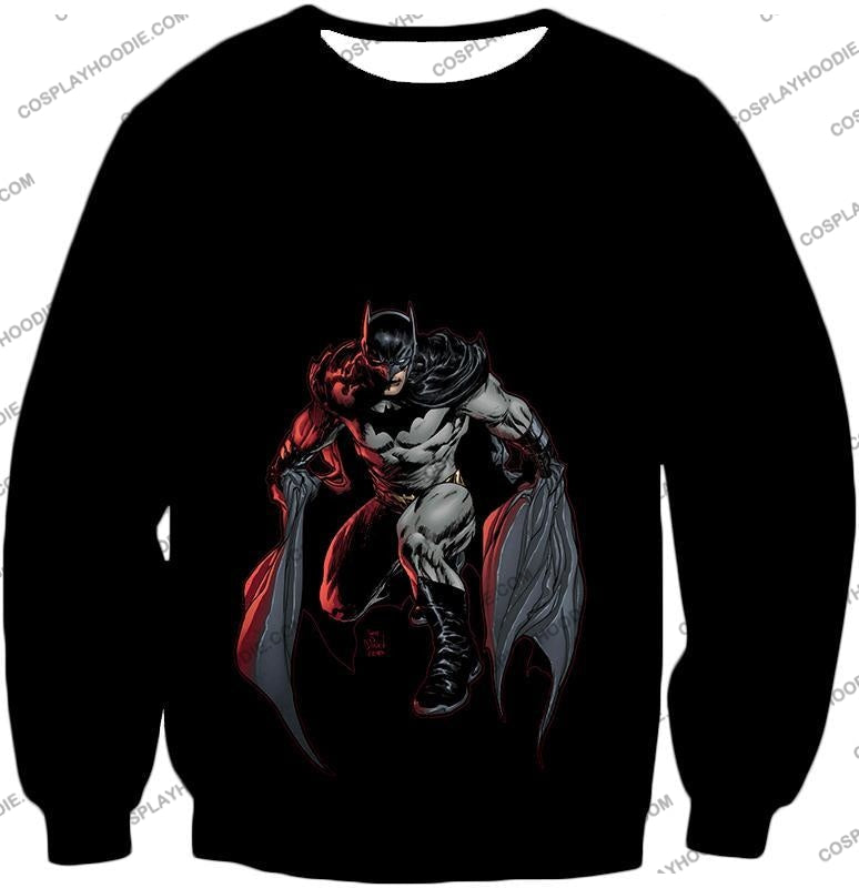 Powerful Dc Hero Batman Ultimate Graphics Cool Black T-Shirt Bm087 Sweatshirt / Us Xxs (Asian Xs)