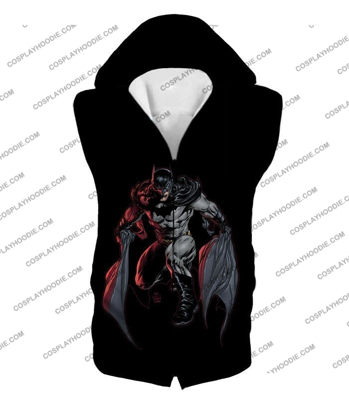 Powerful Dc Hero Batman Ultimate Graphics Cool Black T-Shirt Bm087 Hooded Tank Top / Us Xxs (Asian