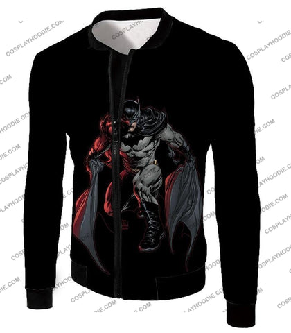 Image of Powerful Dc Hero Batman Ultimate Graphics Cool Black T-Shirt Bm087 Jacket / Us Xxs (Asian Xs)