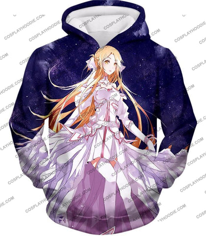 Image of Sword Art Online Favourite Anime Blonde Yuuki Asuna Cool Sao Promo T-Shirt Sao088 Hoodie / Us Xxs