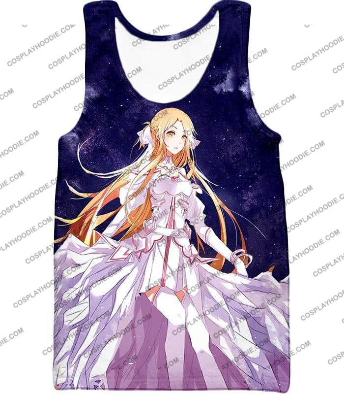 Sword Art Online Favourite Anime Blonde Yuuki Asuna Cool Sao Promo T-Shirt Sao088 Tank Top / Us Xxs