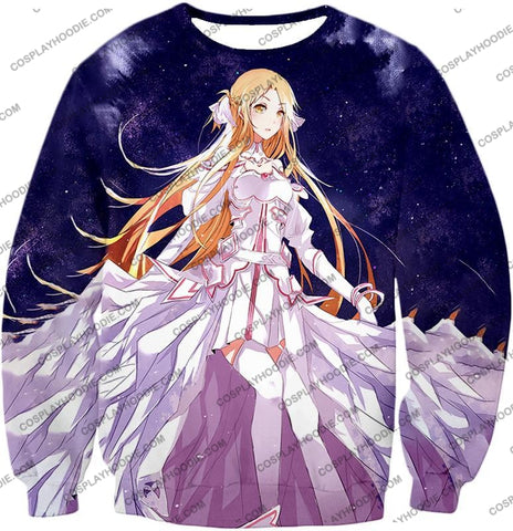 Image of Sword Art Online Favourite Anime Blonde Yuuki Asuna Cool Sao Promo T-Shirt Sao088 Sweatshirt / Us