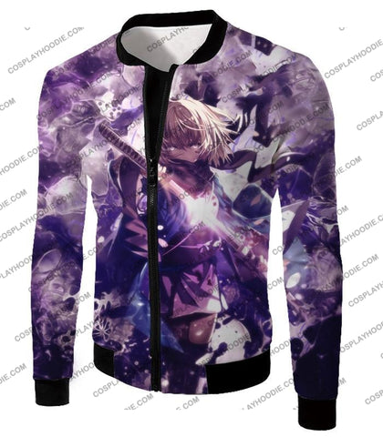 Image of Fate Stay Night Grand Order Deadly Fighter Saber Sakura Action T-Shirt Fsn089 Jacket / Us Xxs (Asian