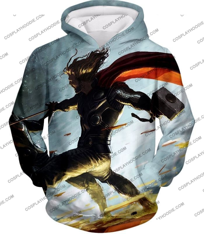 Super Strong God Hero Thor Action T-Shirt Thor009 Hoodie / Us Xxs (Asian Xs)