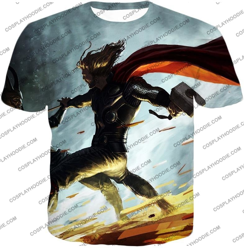 Super Strong God Hero Thor Action T-Shirt Thor009 / Us Xxs (Asian Xs)