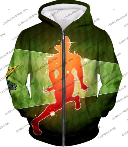Image of Jojos All Star Battle C Esidisi Graphic T-Shirt Jo009 Zip Up Hoodie / Us Xxs (Asian Xs)