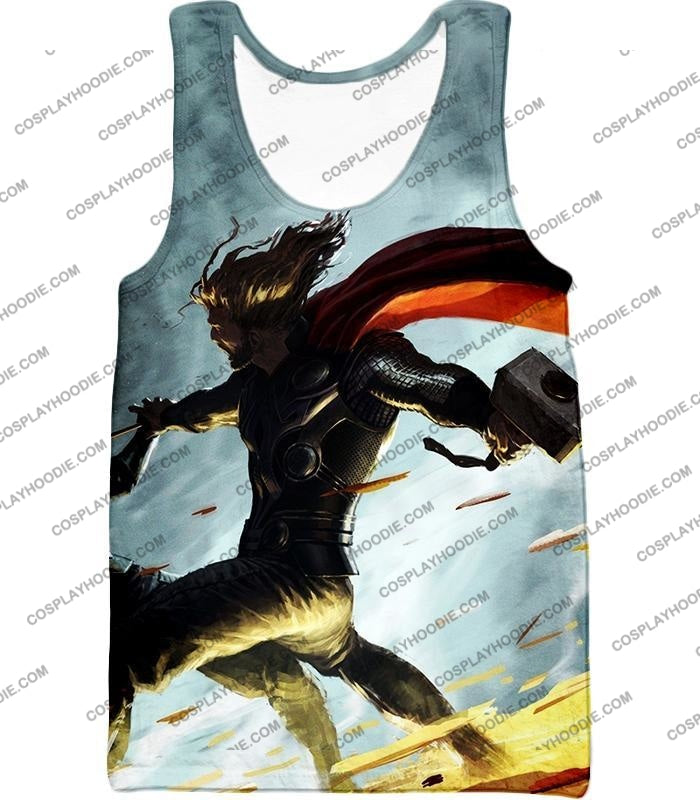 Super Strong God Hero Thor Action T-Shirt Thor009 Tank Top / Us Xxs (Asian Xs)
