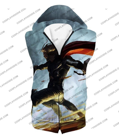 Image of Super Strong God Hero Thor Action T-Shirt Thor009 Hooded Tank Top / Us Xxs (Asian Xs)