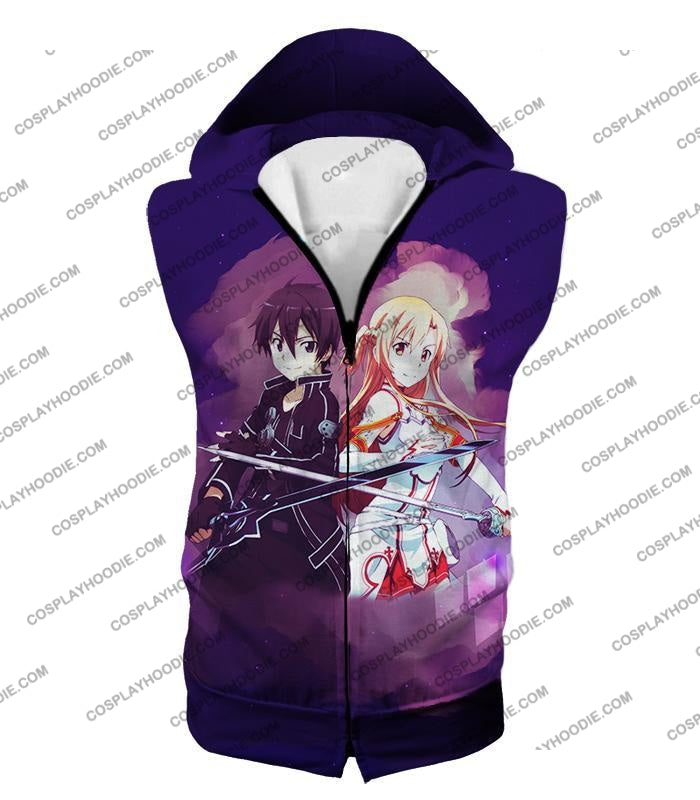 Sword Art Online Best Anime Couple Kirito And Asuna Cool Action T-Shirt Sao009 Hooded Tank Top / Us