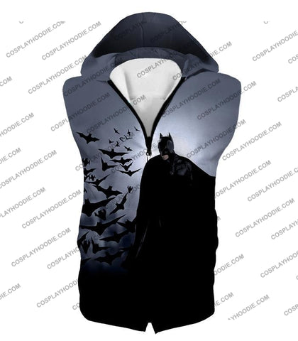 Image of Super Cool Gotham Vigilante Batman Graphic Action T-Shirt Bm009 Hooded Tank Top / Us Xxs (Asian Xs)