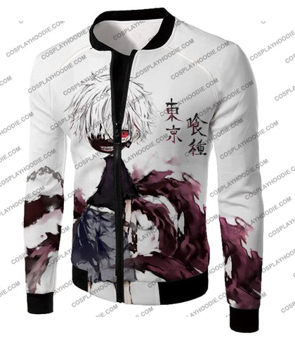 Image of Tokyo Ghoul Very Cool Ken Kaneki Anime Action Art Promo White T-Shirt Tg059 Jacket / Us Xxs (Asian