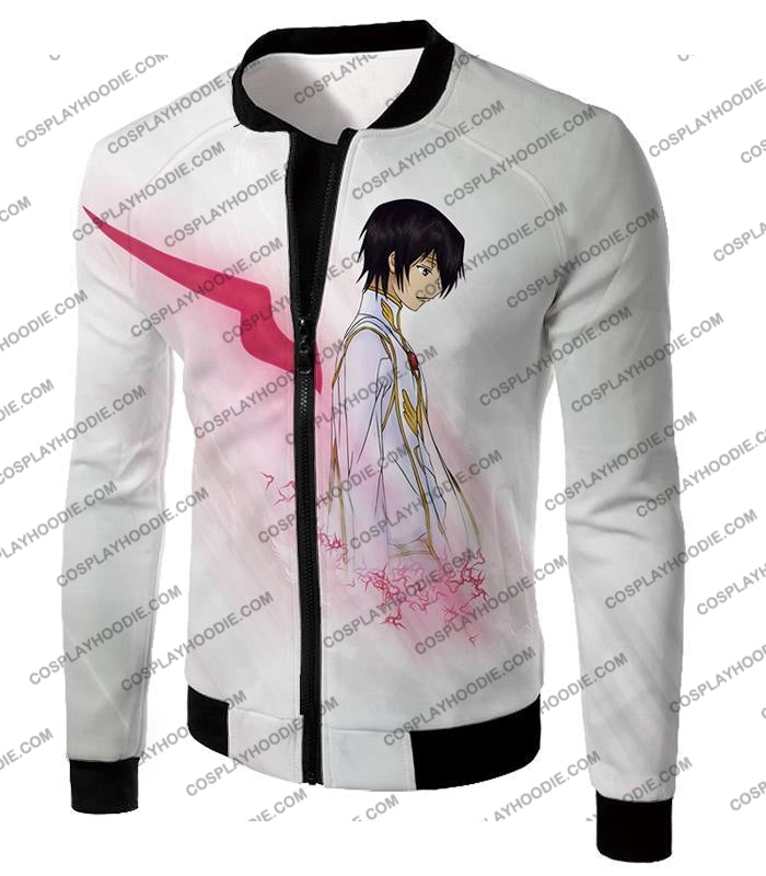 Code Geass Anime Hero Lelouch Lamperouge Awesome White T-Shirt Cg009 Jacket / Us Xxs (Asian Xs)