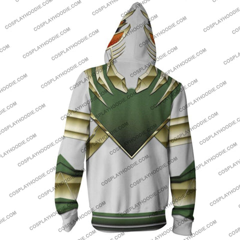 Image of Power Rangers Green Hoodie Jacket Cosplay