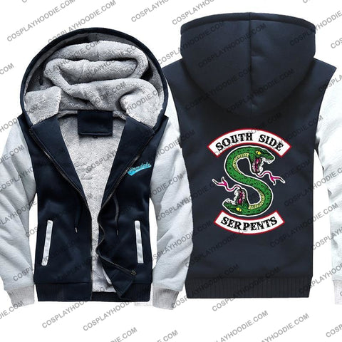 Riverdale South Side Serpents Fleece Winter Hoodie Jacket Color2 / M