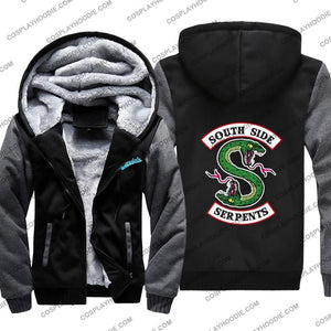 Riverdale South Side Serpents Fleece Winter Hoodie Jacket Color1 / M